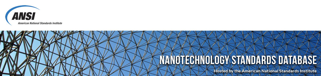 Nanotechnology Standards Database